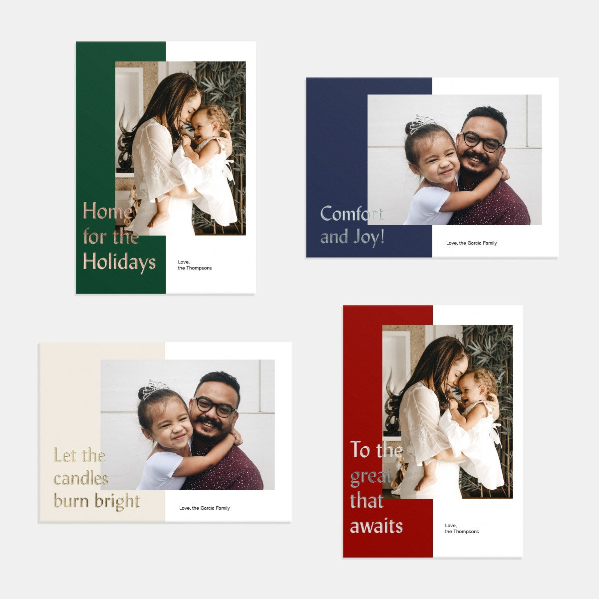 Layered Colorblock Holiday Card