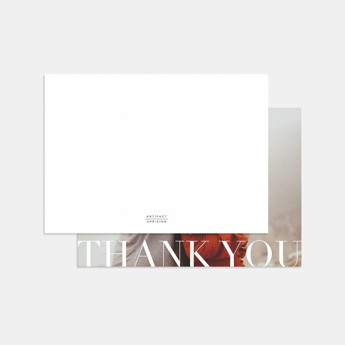 Classic Thank You Card (Horizontal)