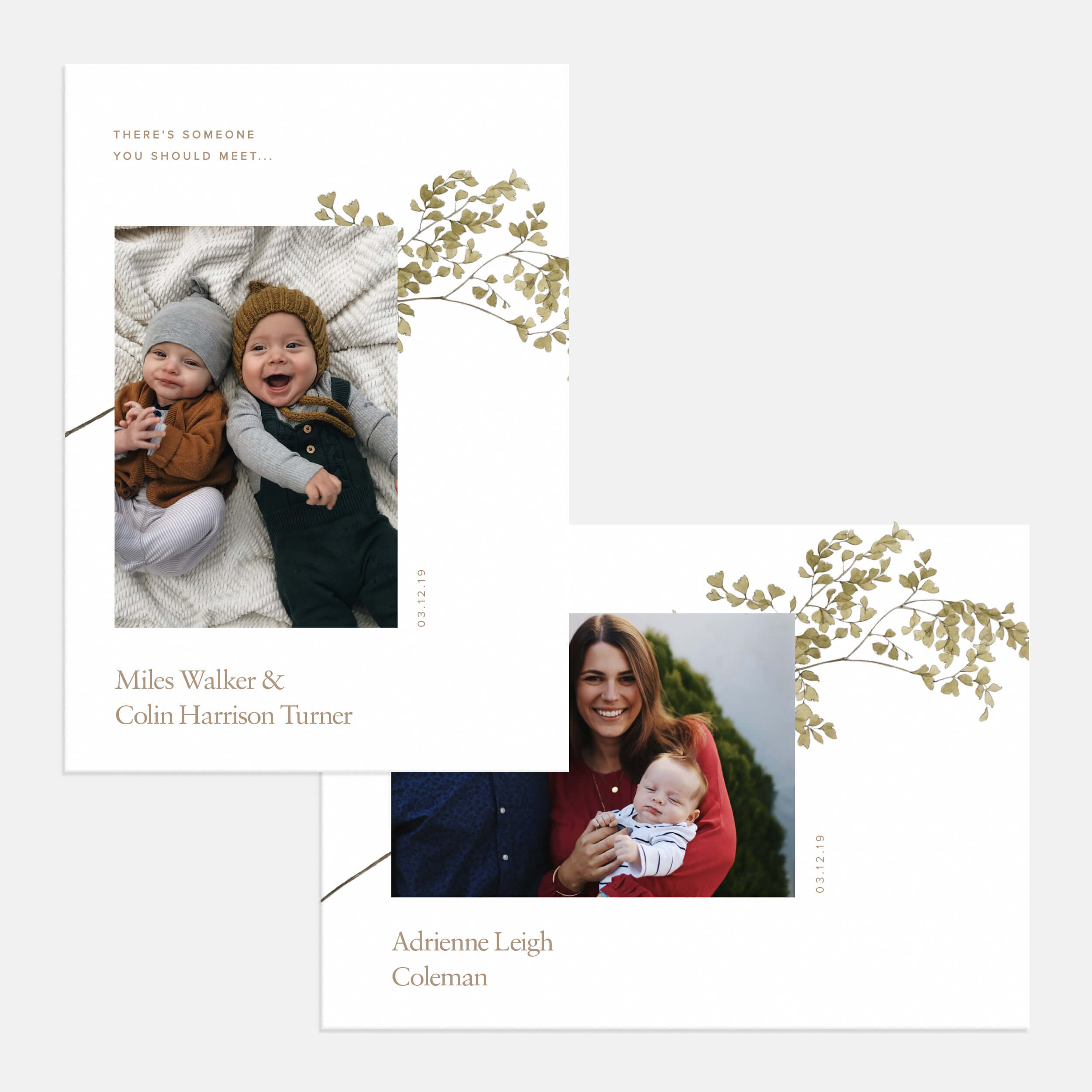 Minimal Branch Birth Announcement
