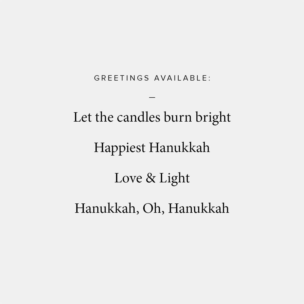 Minimal Menorah Hanukkah Card