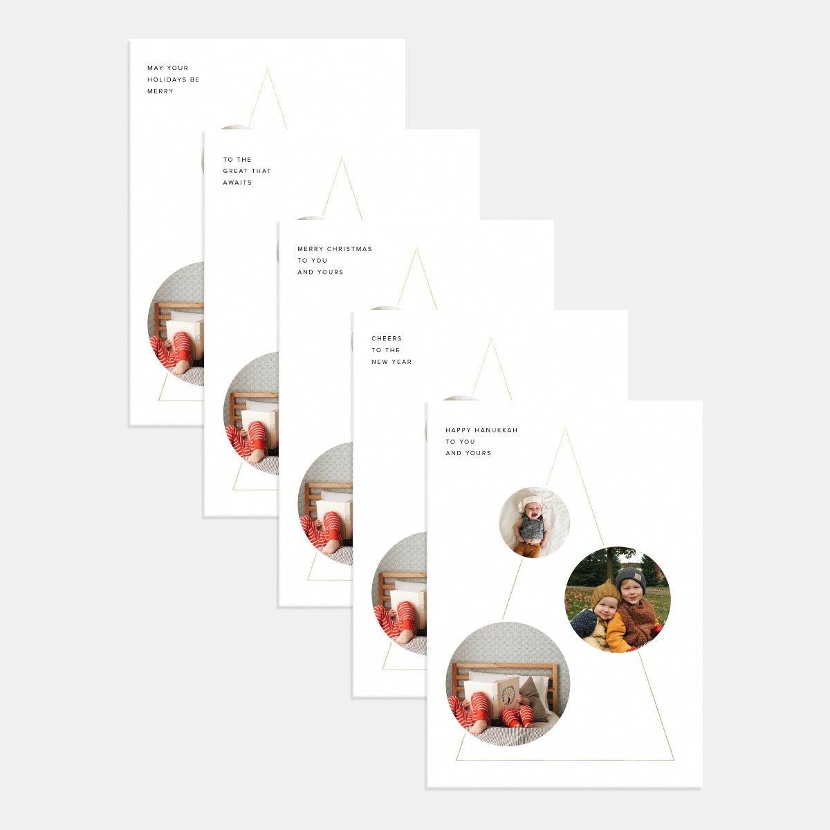 Modern Shapes Holiday Card