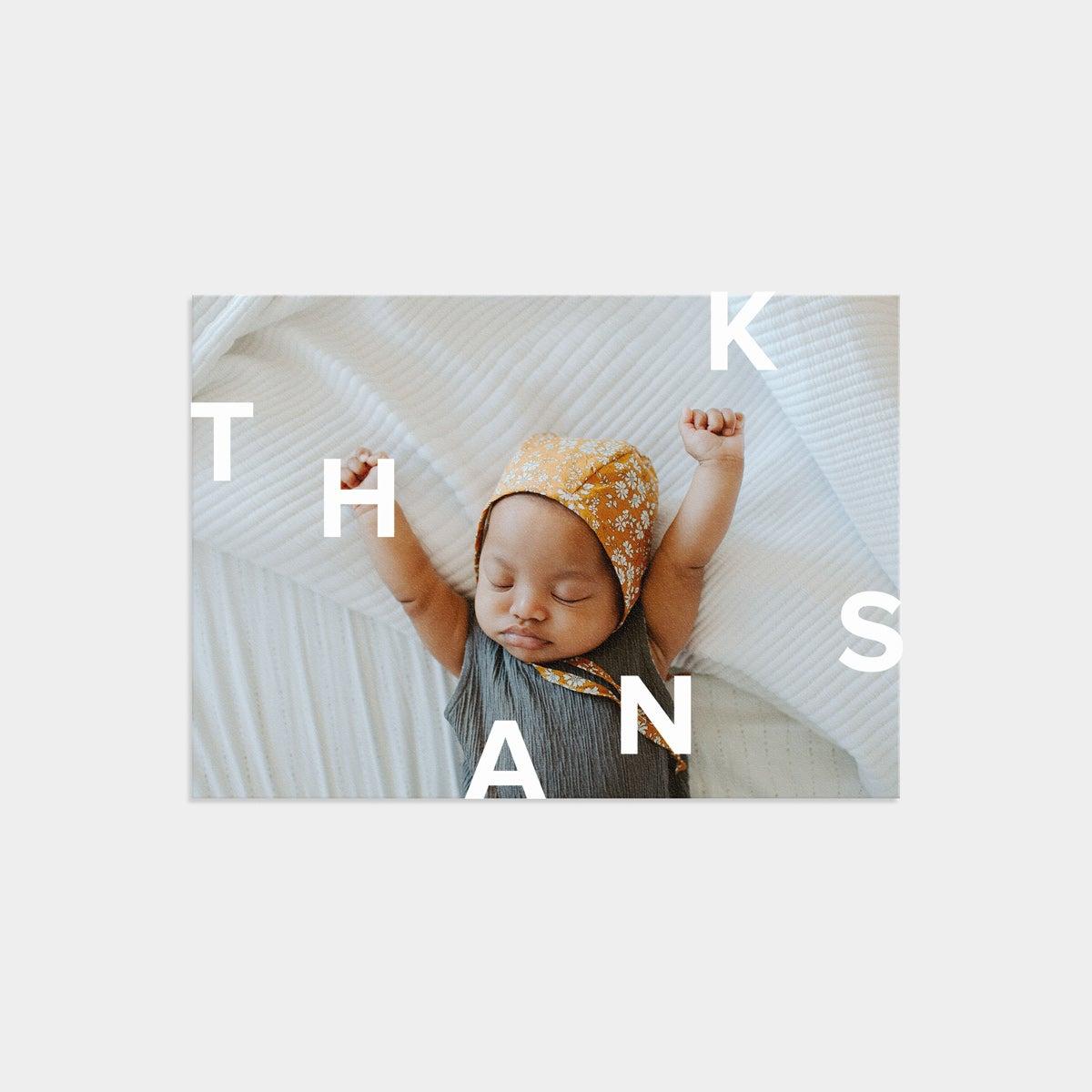 Modern Thanks Card