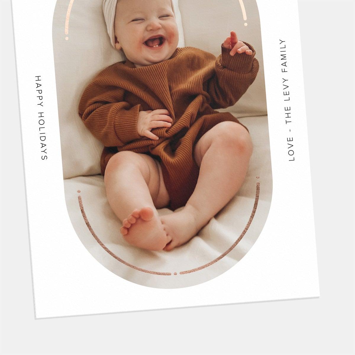 Oval Window Holiday Card