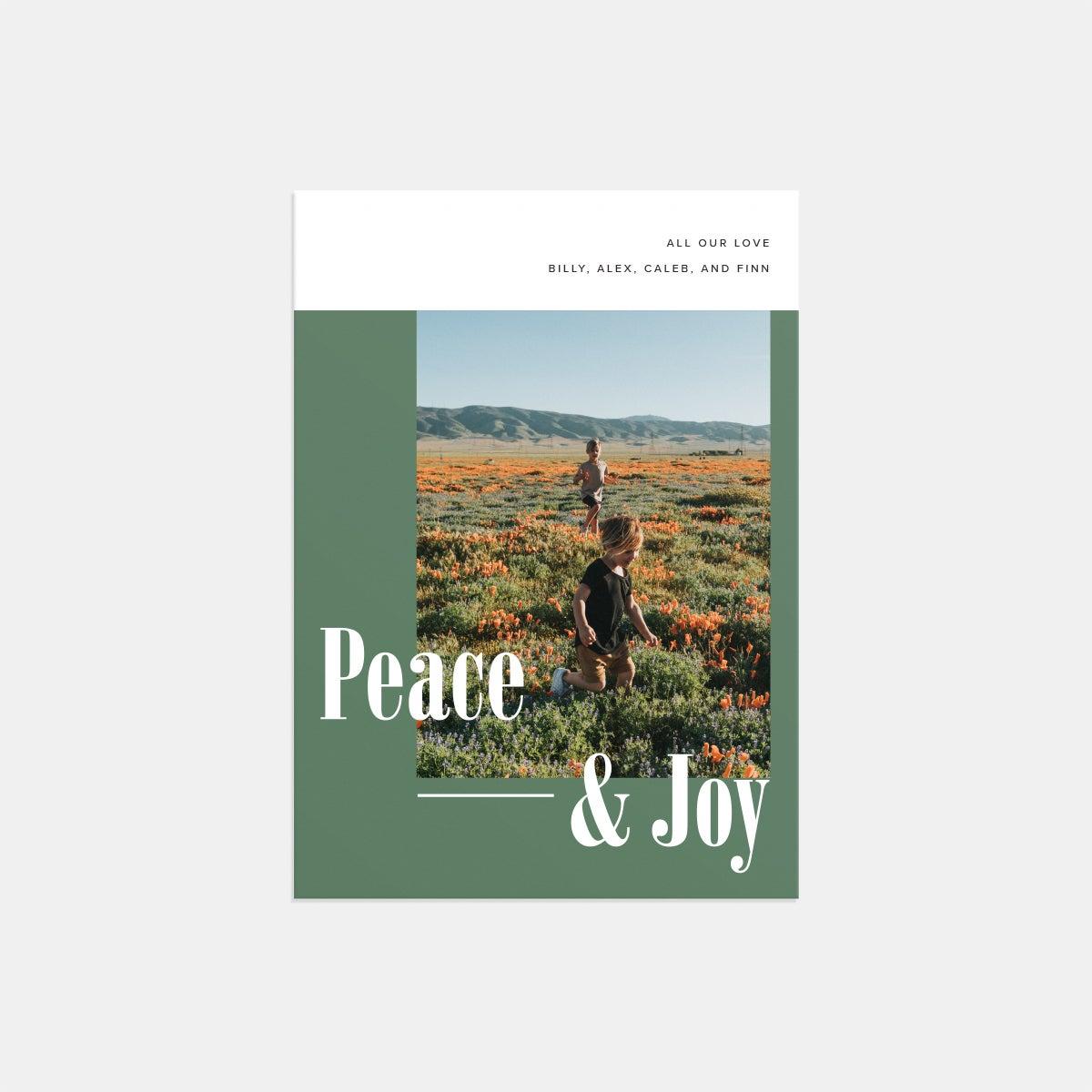 Peace & Joy Holiday Card