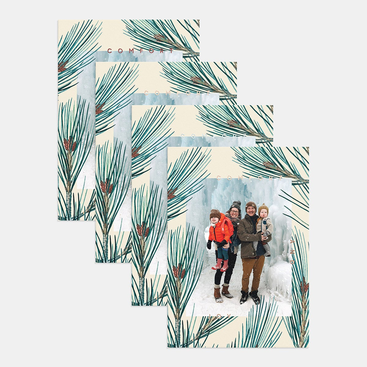 Pine Border Holiday Card