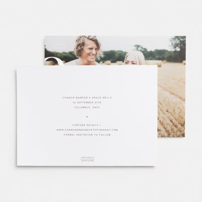Ampersand Save The Date Card
