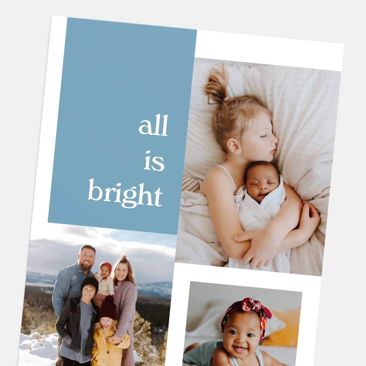 Shifted Shapes Holiday Card