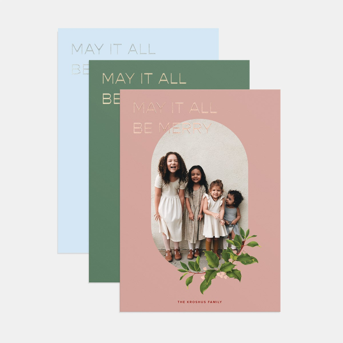Simple Branchlet Holiday Card