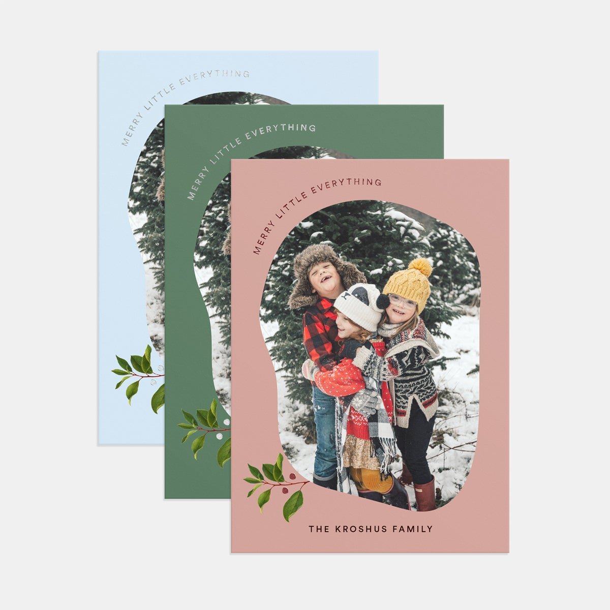 Simple Sprig Holiday Card