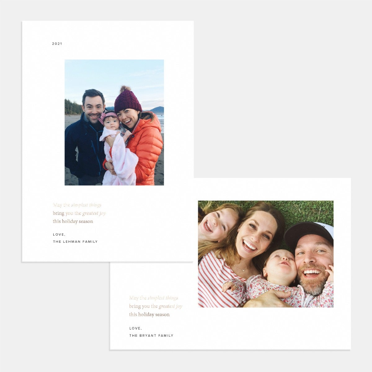 Simplest Things Holiday Card