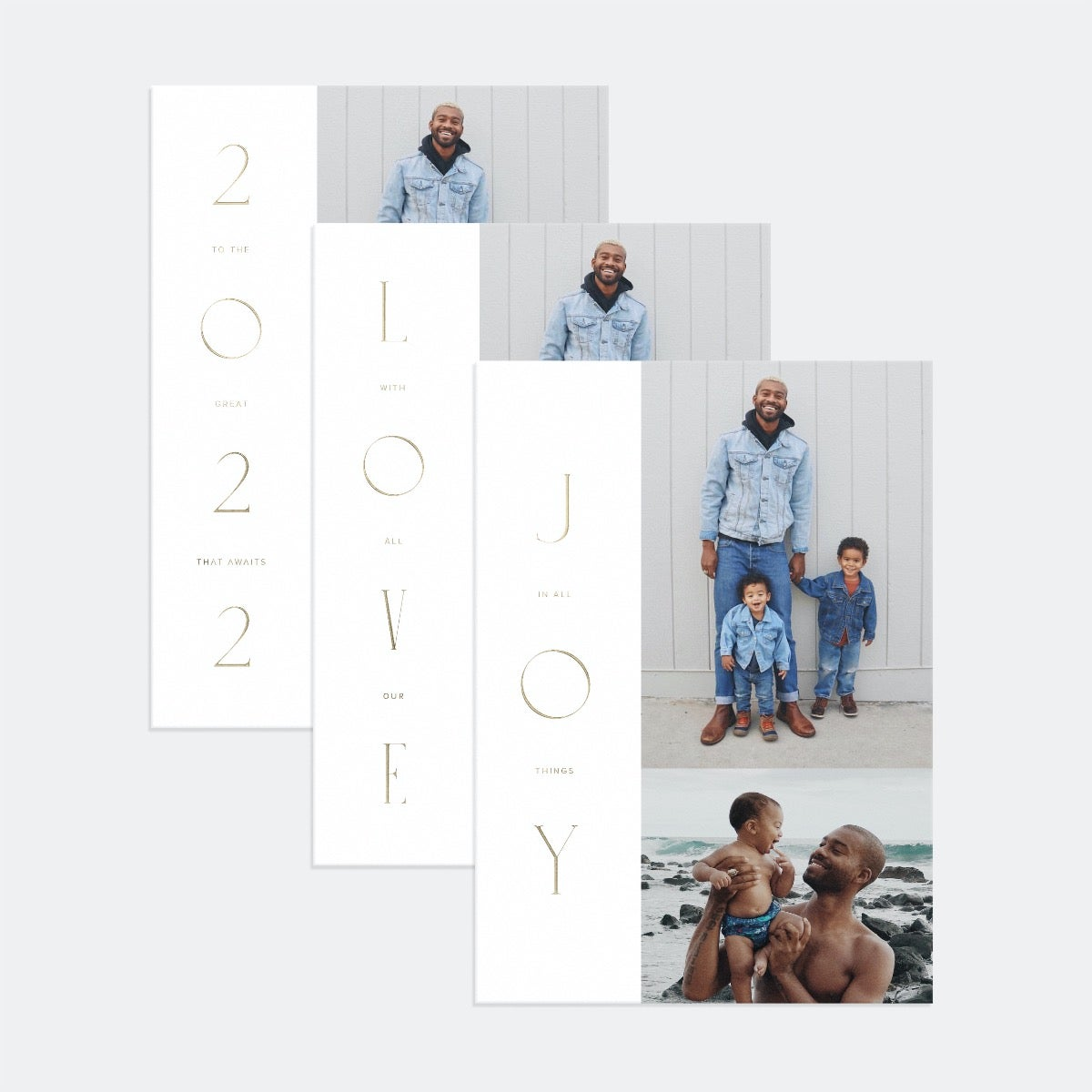 Stacked Serif Holiday Card