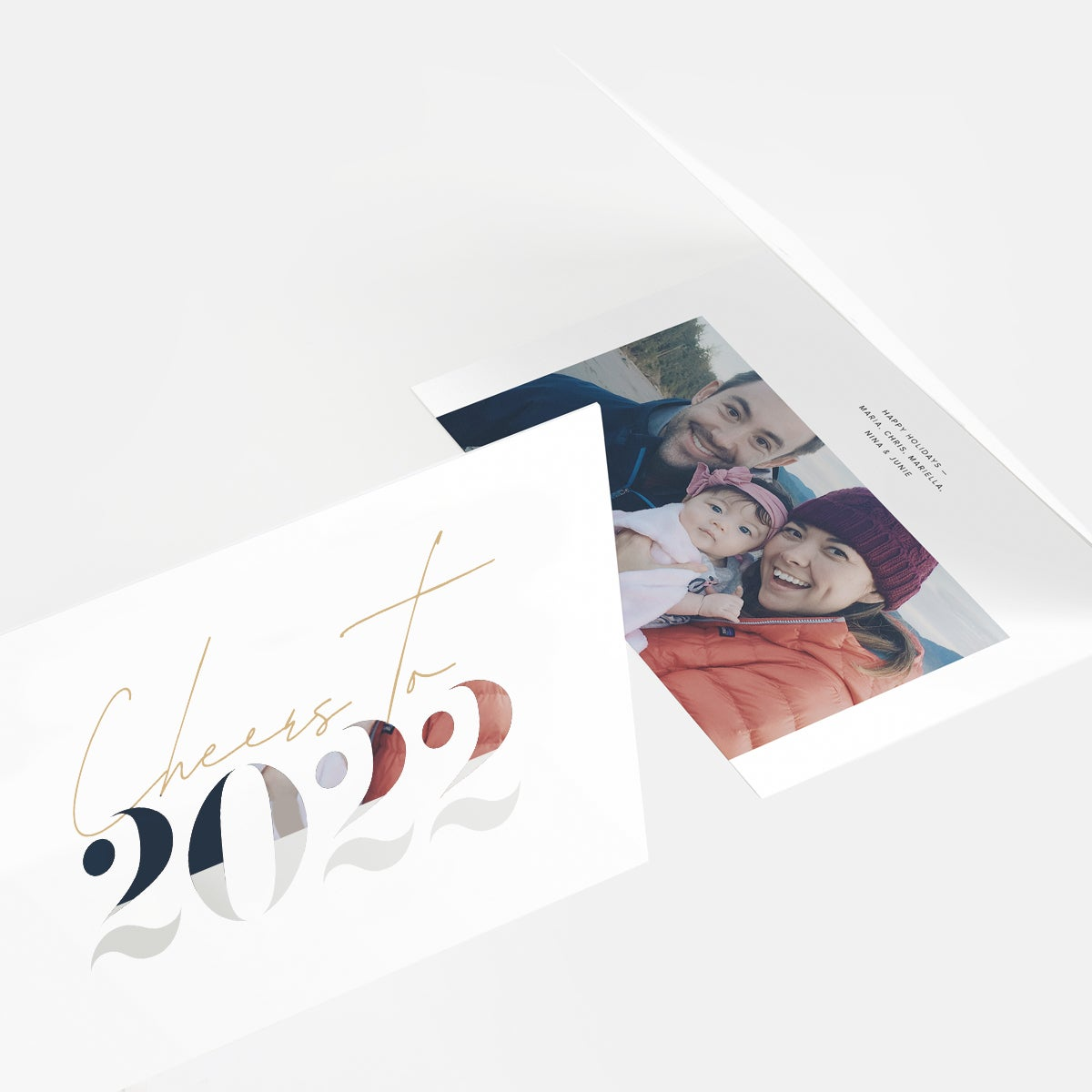 2022 Stencil Letters Holiday Card