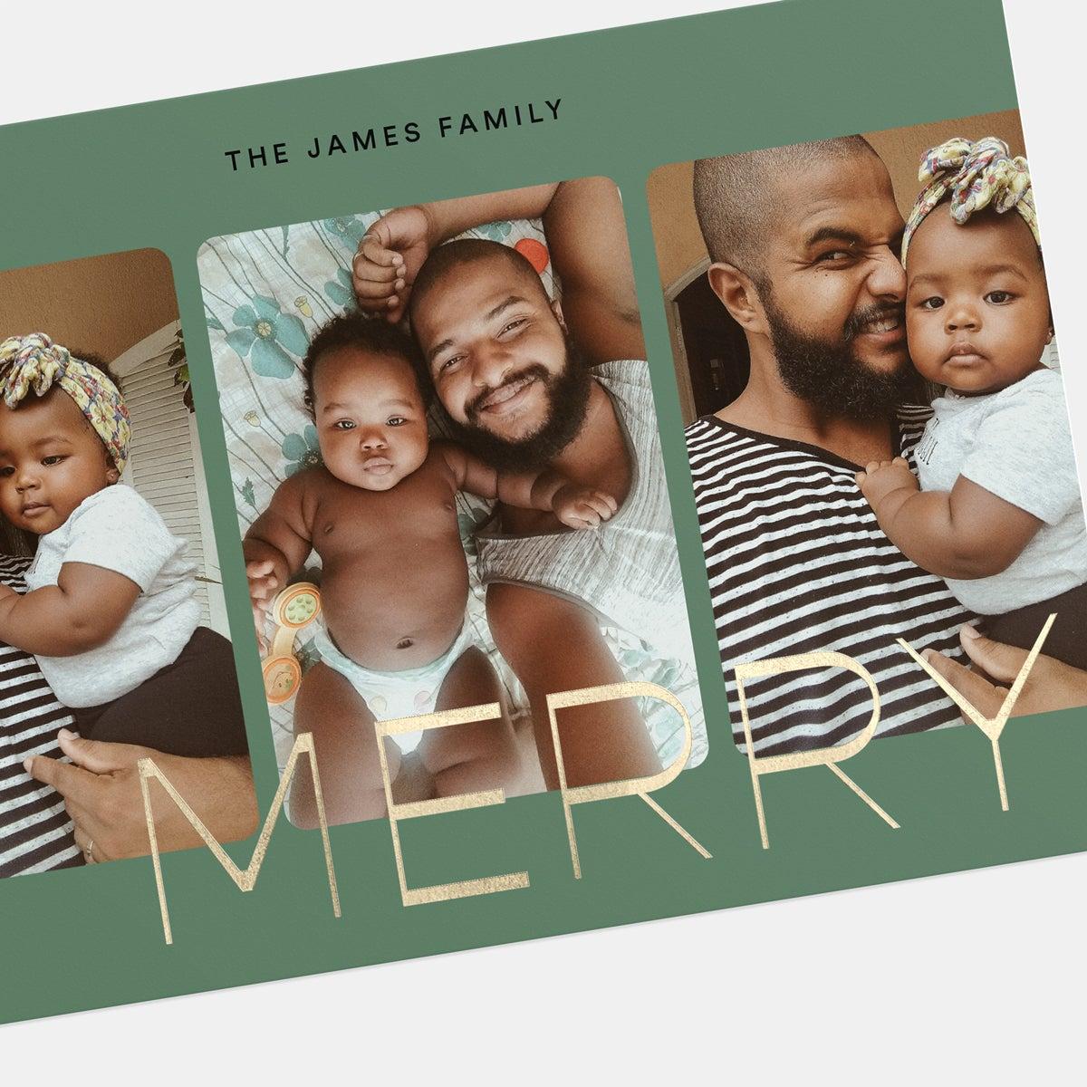 Trio Photo Strip Holiday Card