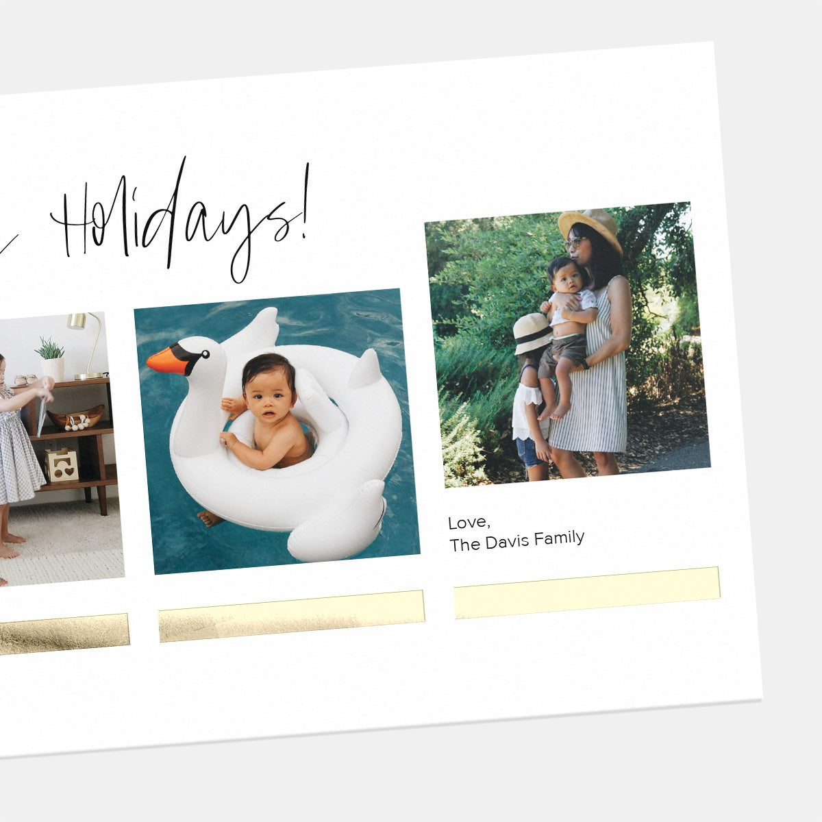 Underscored Squares Holiday Card