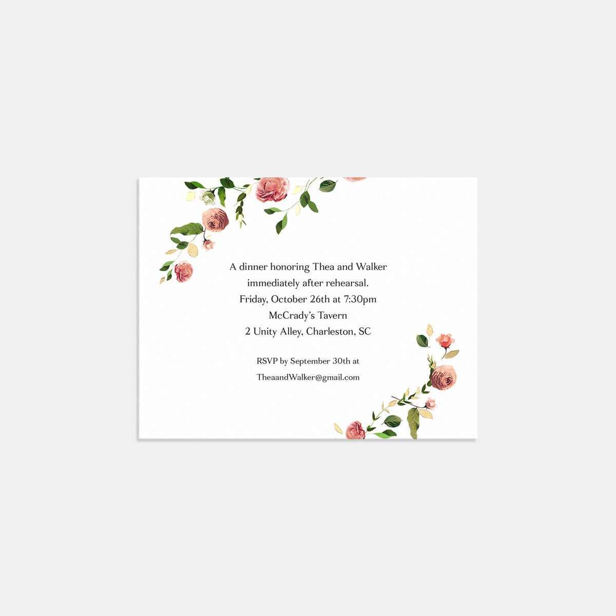 Venamour Botanical Enclosure Card with Foil