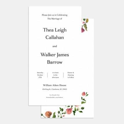 Venamour Botanical Wedding Invitation