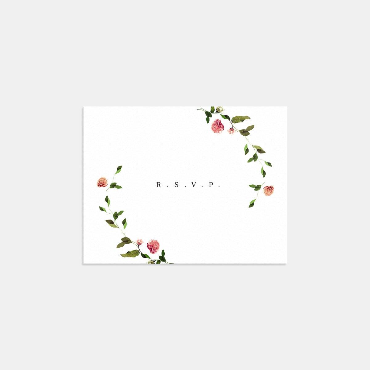 Venamour Botanical RSVP Card