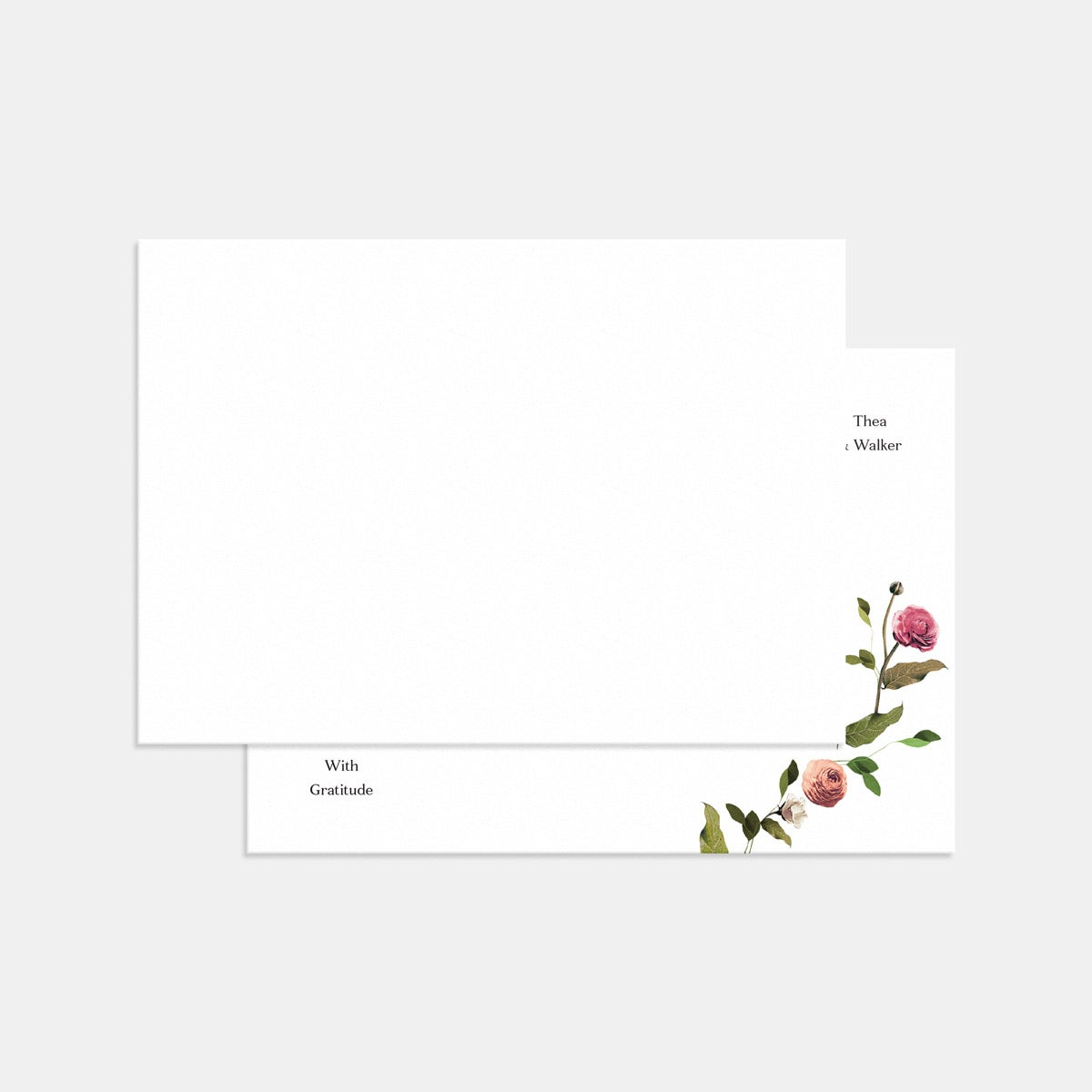 Venamour Botanical Thank You Card