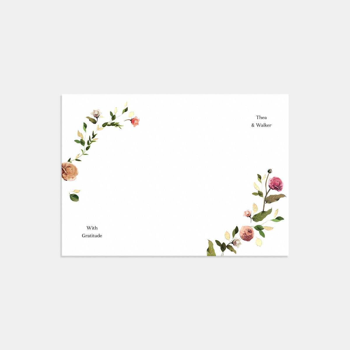 Venamour Botanical Thank You Card with Foil