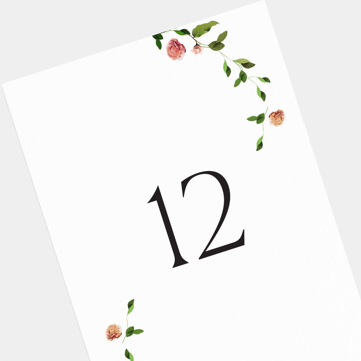 Venamour Botanical Table Numbers