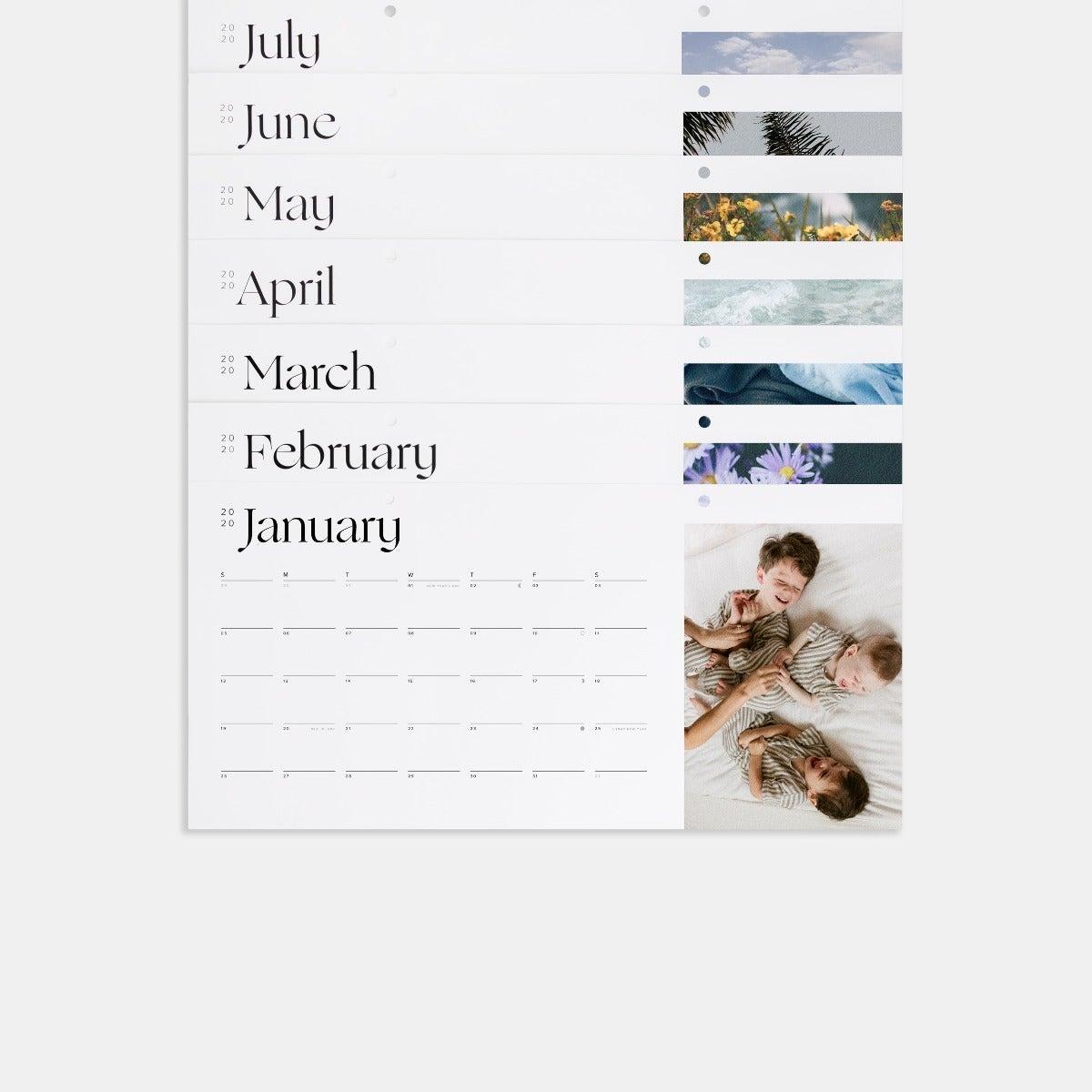 Modern Wall Calendar Refill Pack