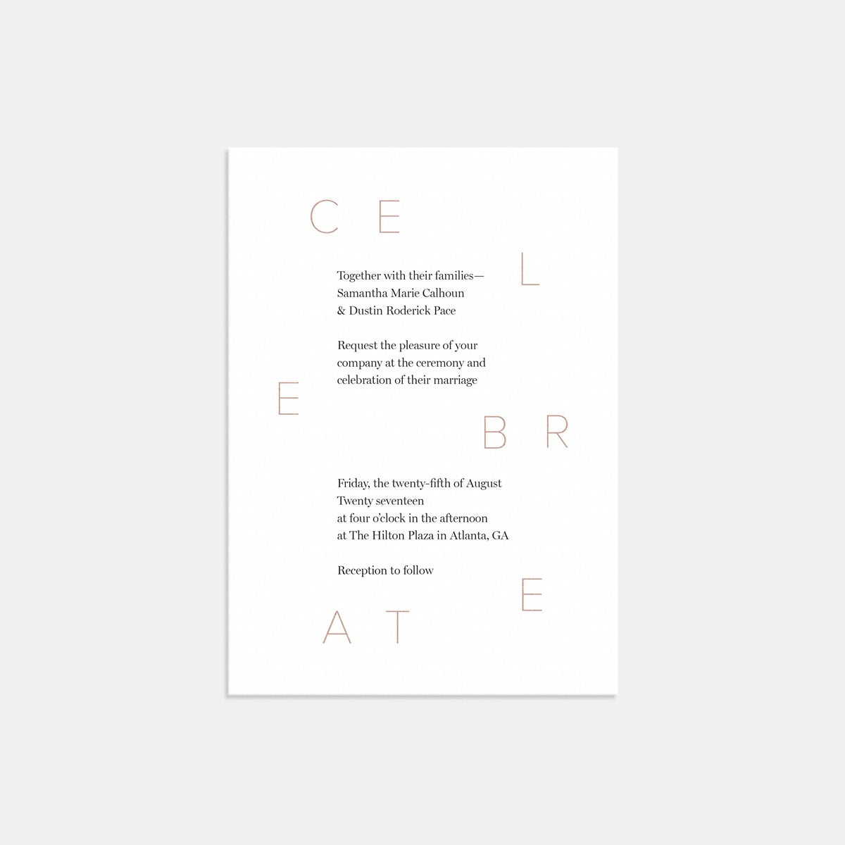 Image for Celebrate Wedding Invitation With Foil
