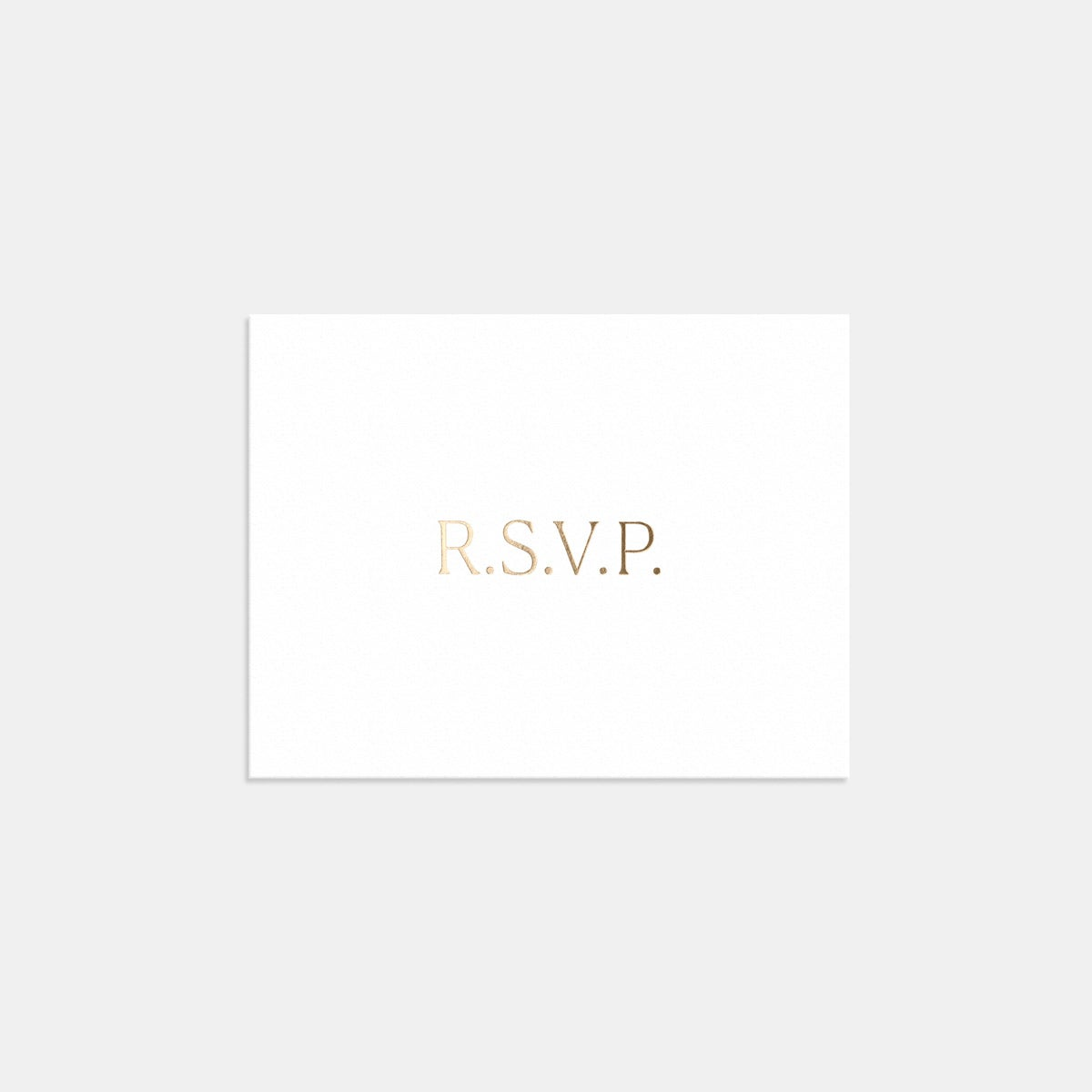 Letterpress Simple Serif RSVP Card