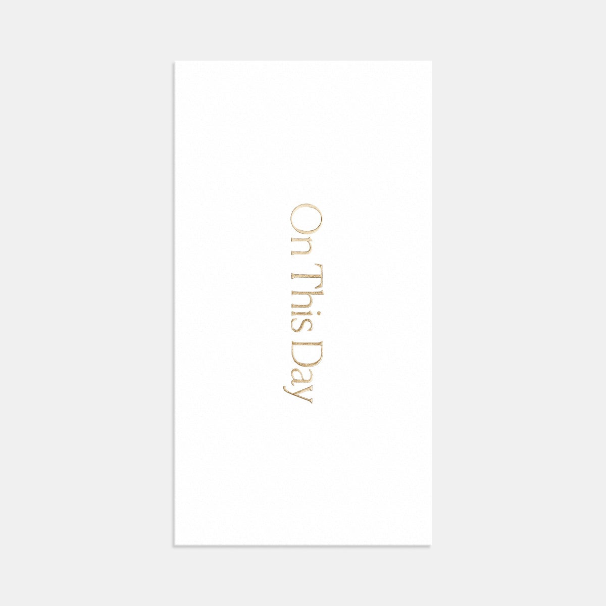 Letterpress Simple Serif Save the Date