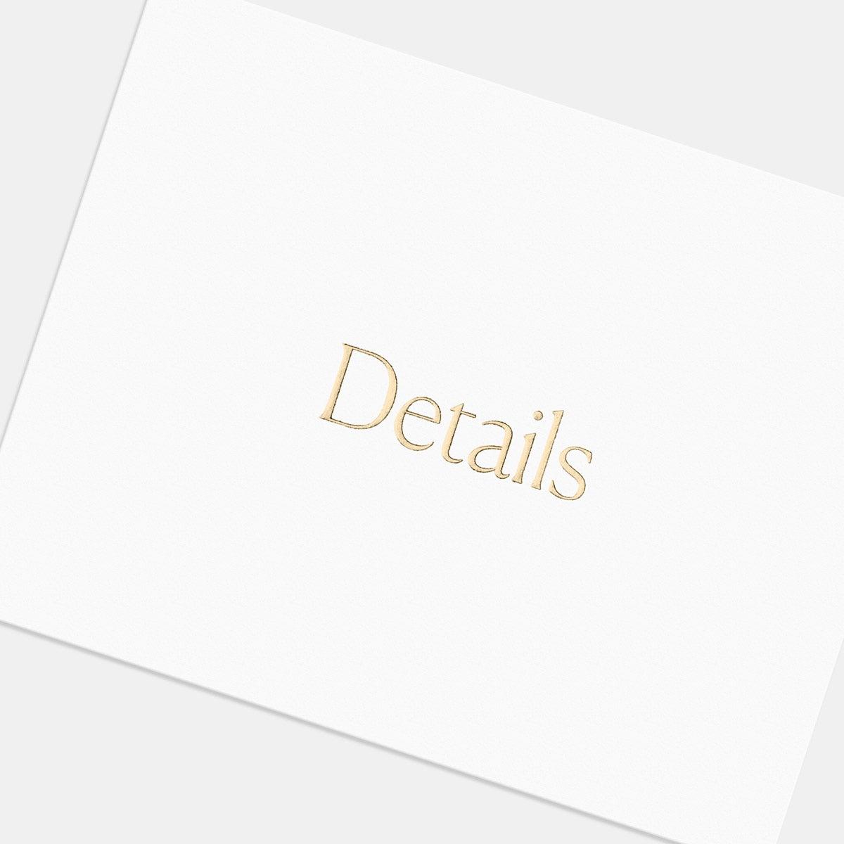 Letterpress Simple Serif Enclosure Card