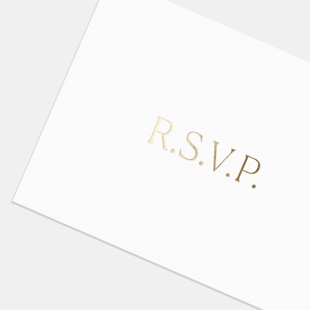 Letterpress Simple Serif RSVP Card