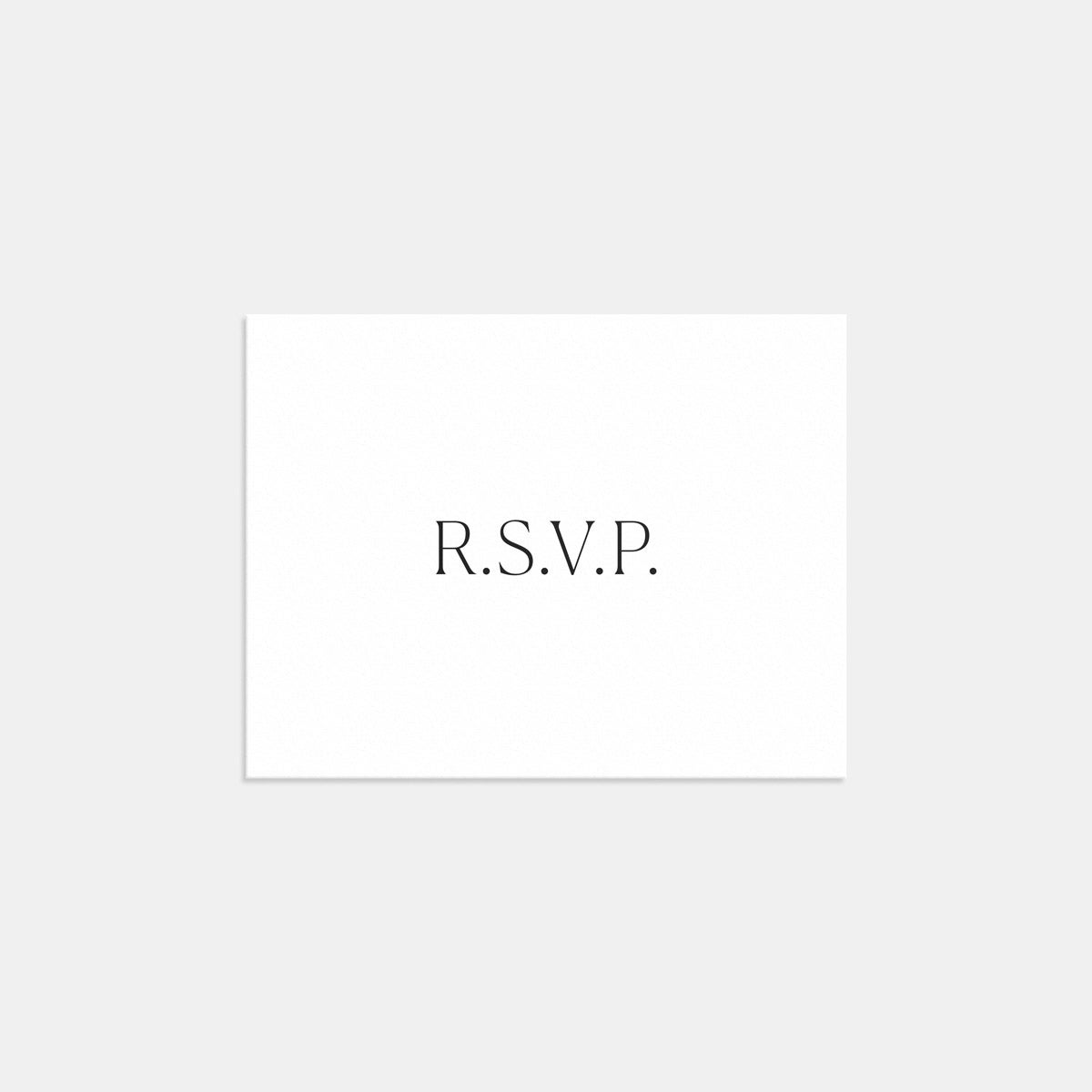 Image for Simple Serif RSVP Card