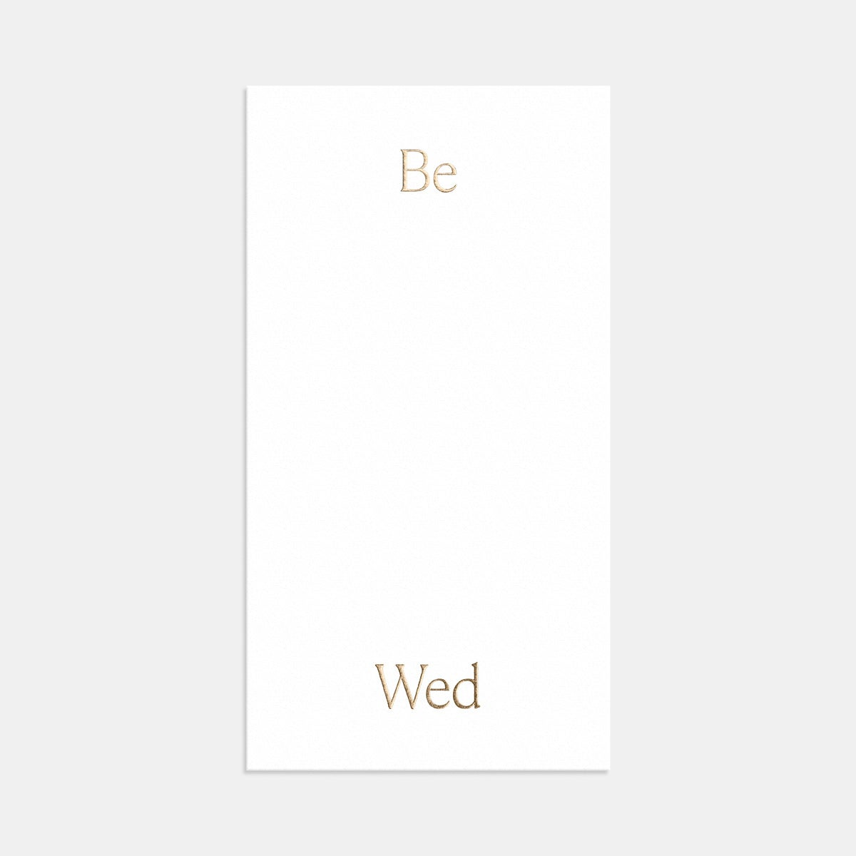Foil-Stamped Simple Serif Wedding Invitation