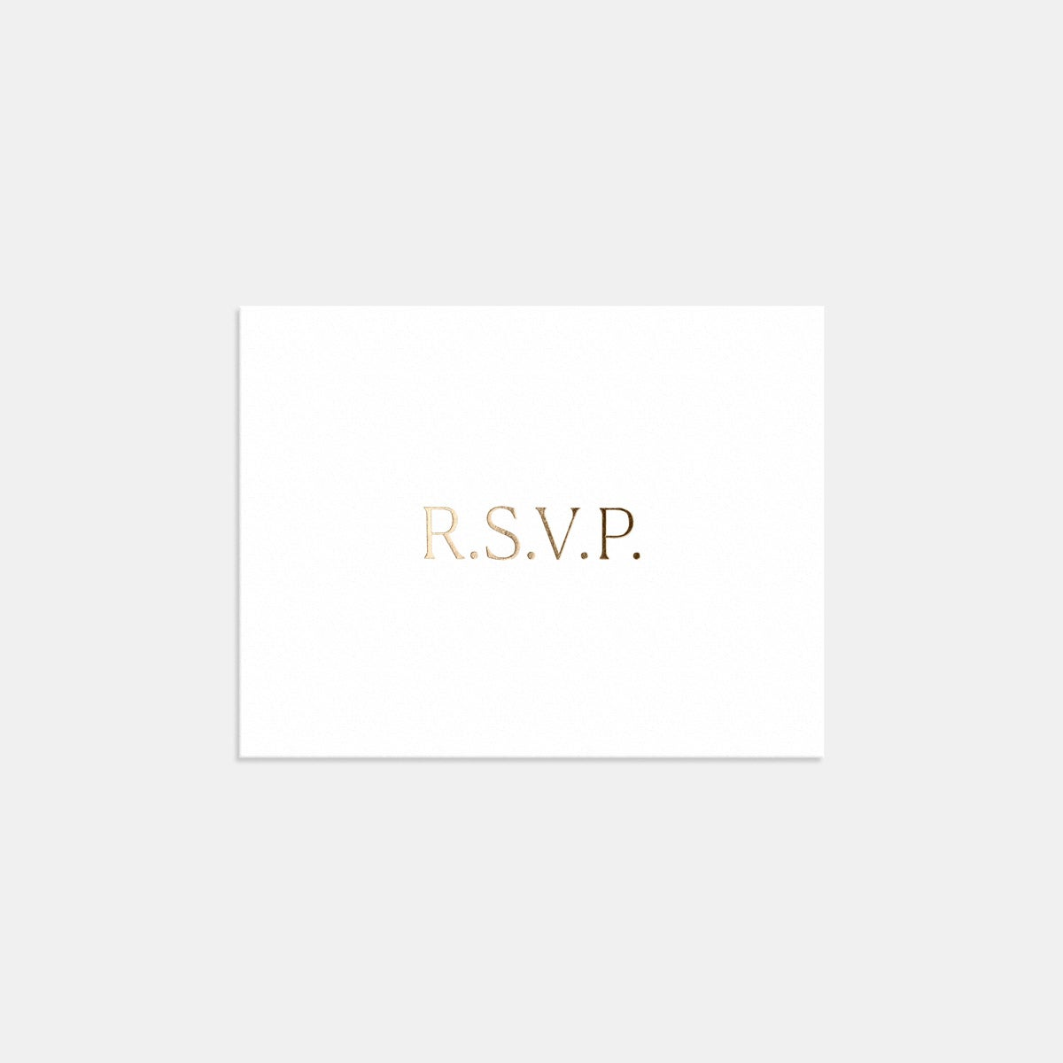 Image for Foil-Stamped Simple Serif RSVP Card