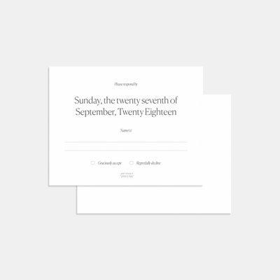 Foil-Stamped Simple Serif RSVP Card