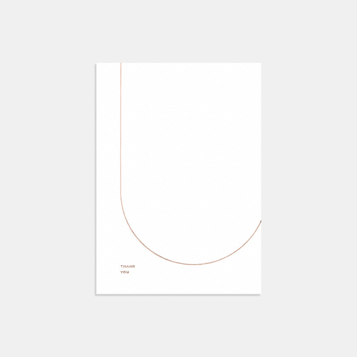 Image for Letterpress Geometric Thank You Card