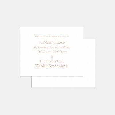 Letterpress Geometric Enclosure Card