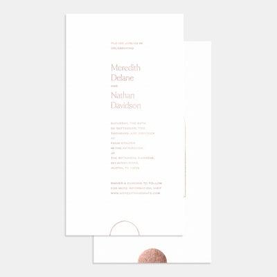 Letterpress Geometric Wedding Invitation