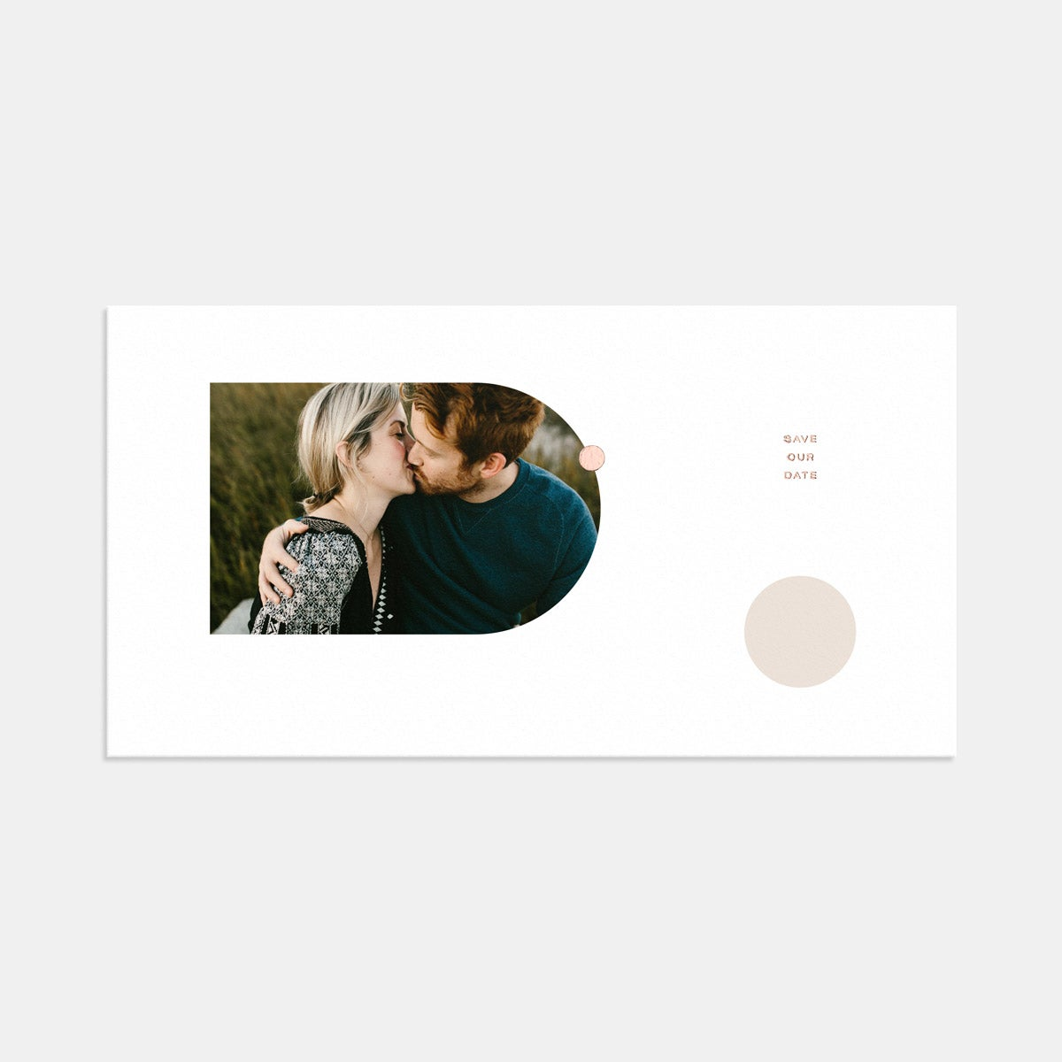 Image for Foil-Stamped Geometric Save the Date