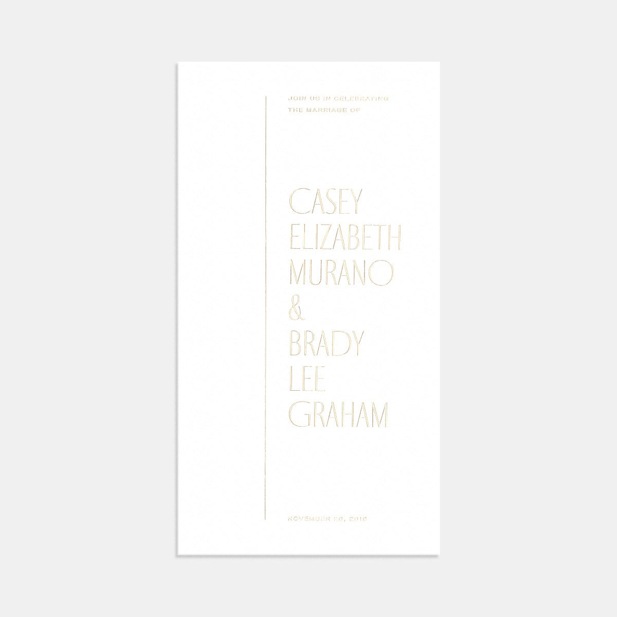 Image for Letterpress Minimal Wedding Invitation