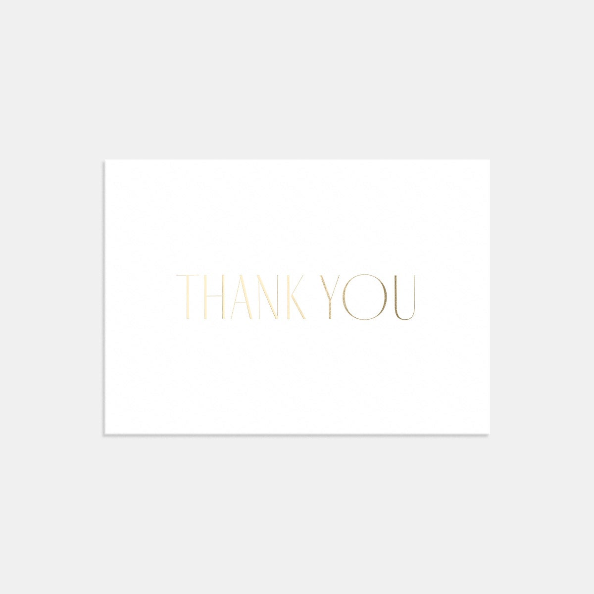 Image for Letterpress Minimal Thank You Card