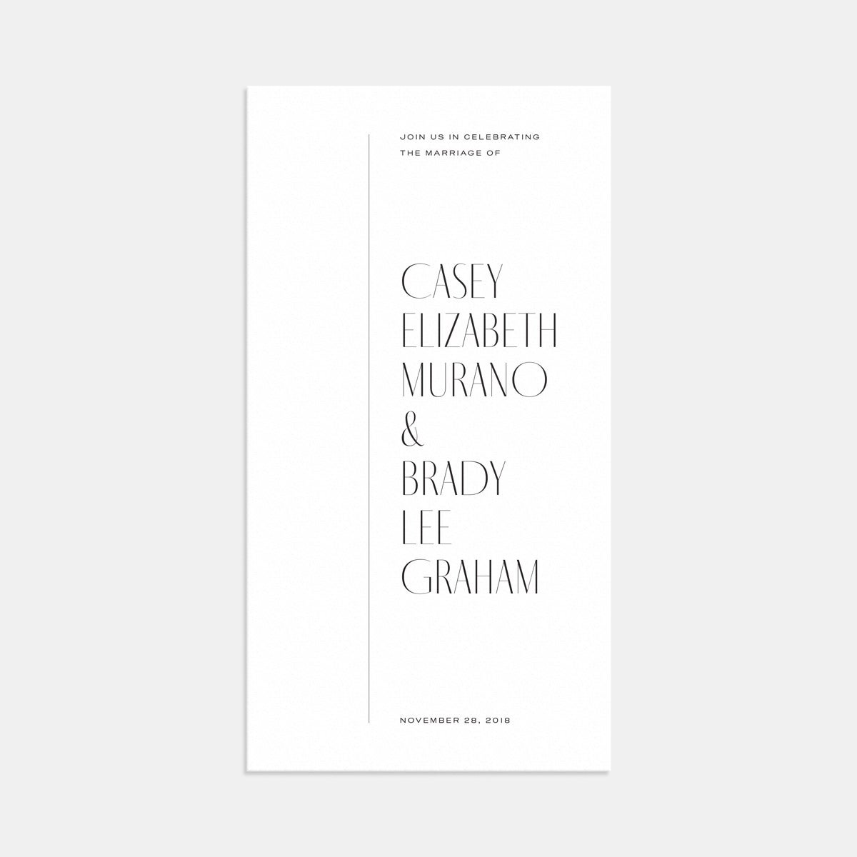 Image for Minimal Wedding Invitation