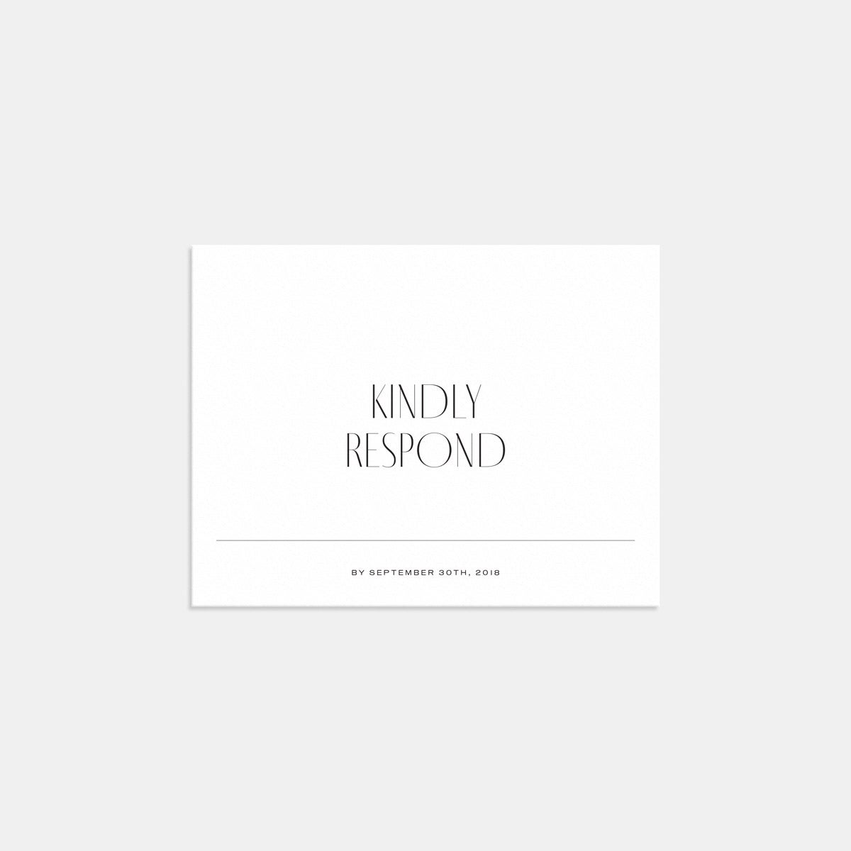 Image for Minimal RSVP Card