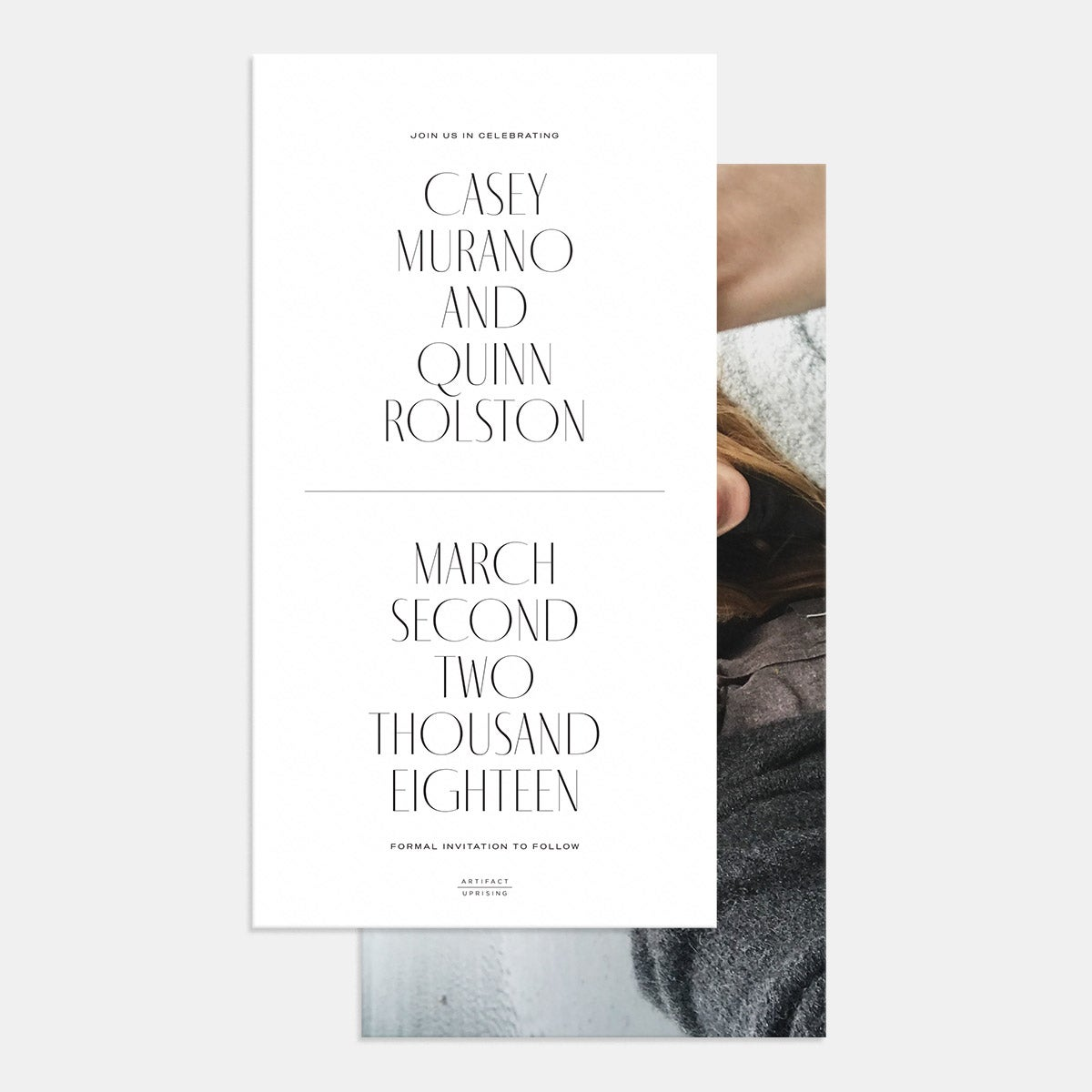 Foil-Stamped Minimal Save the Date