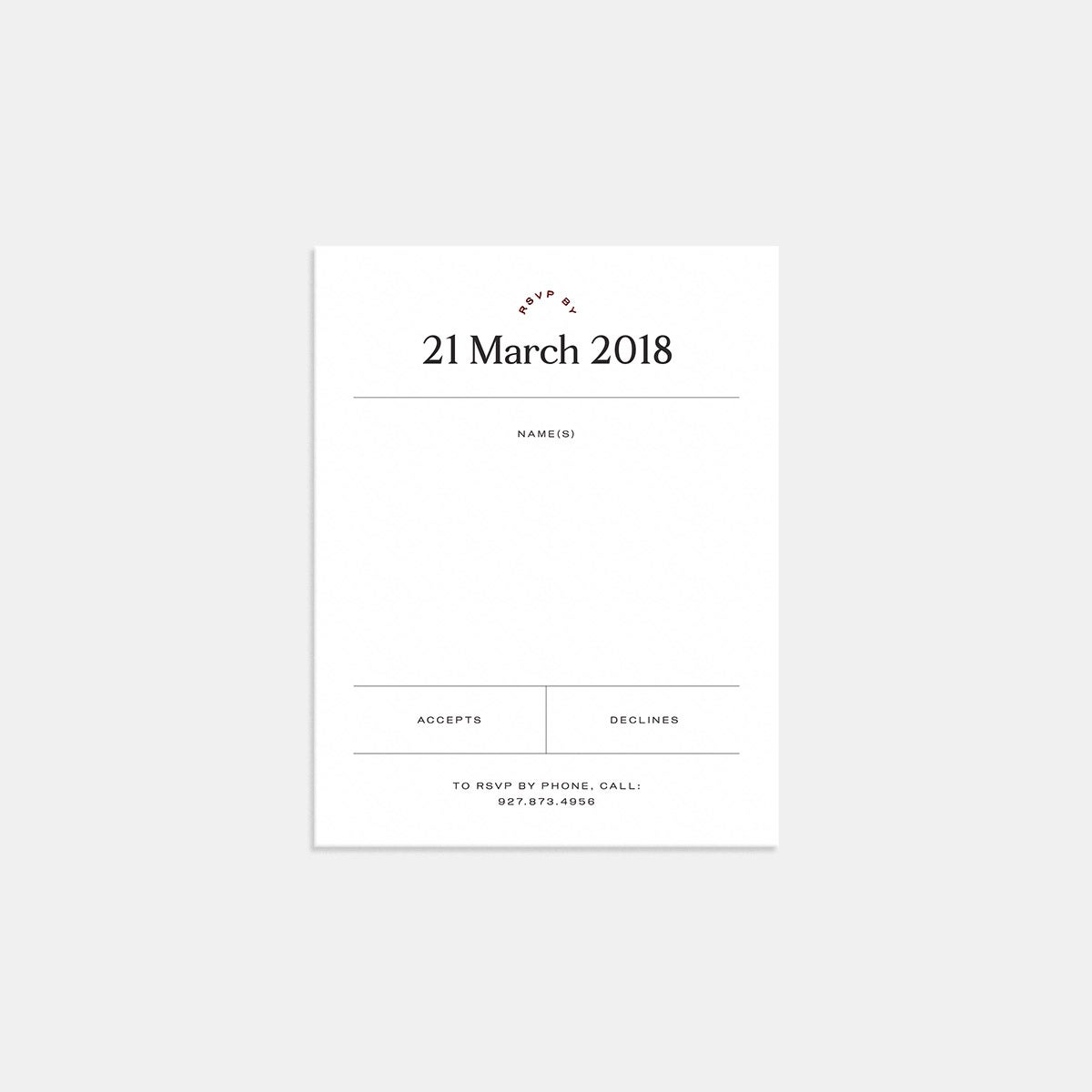 Image for Foil-Stamped Contemporary Classic RSVP Card