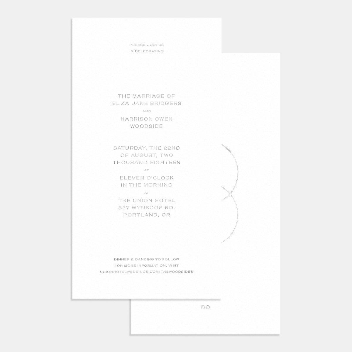 Letterpress Union Wedding Invitation