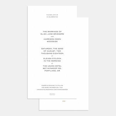 Foil-Stamped Union Wedding Invitation