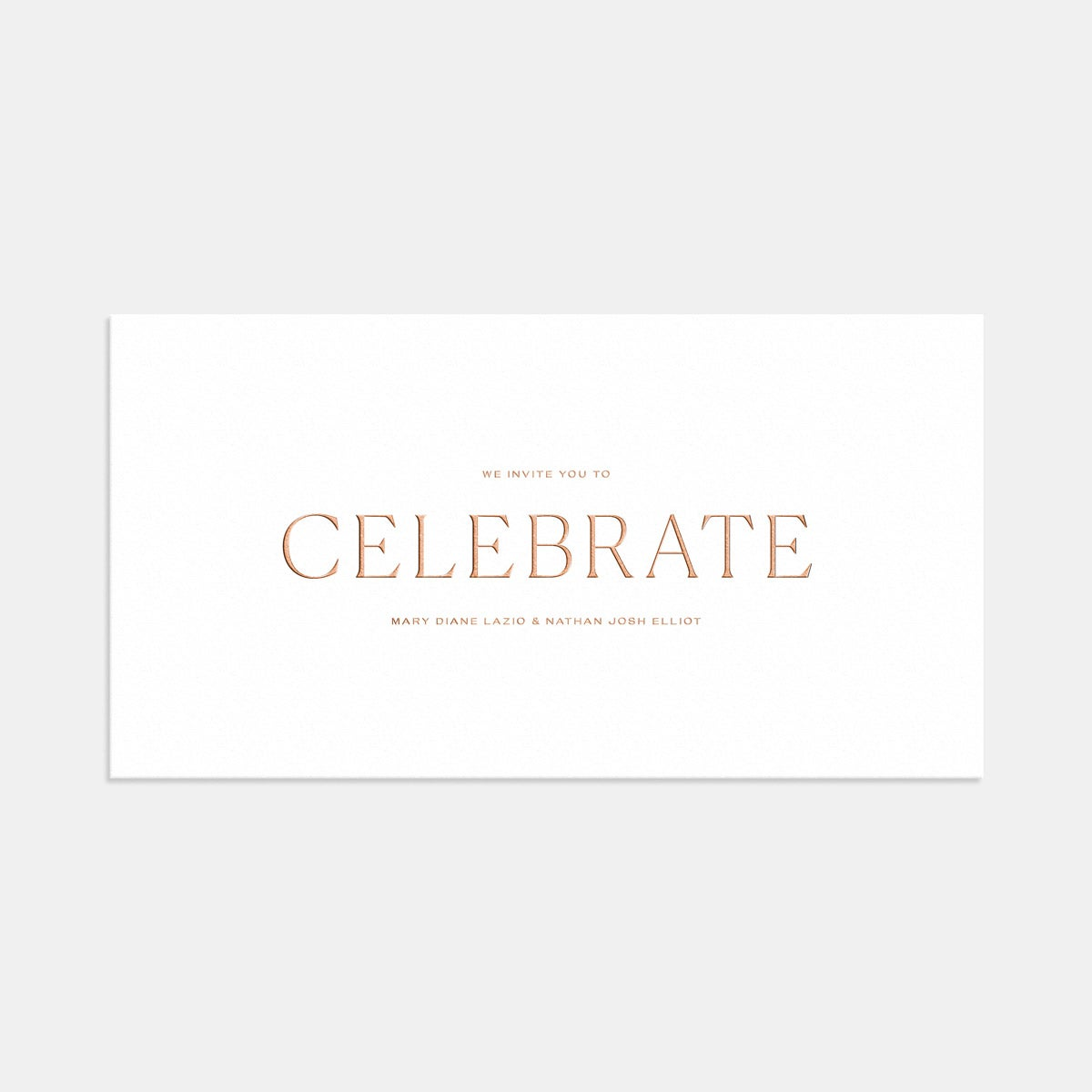 Letterpress Pronounced Wedding Invitation