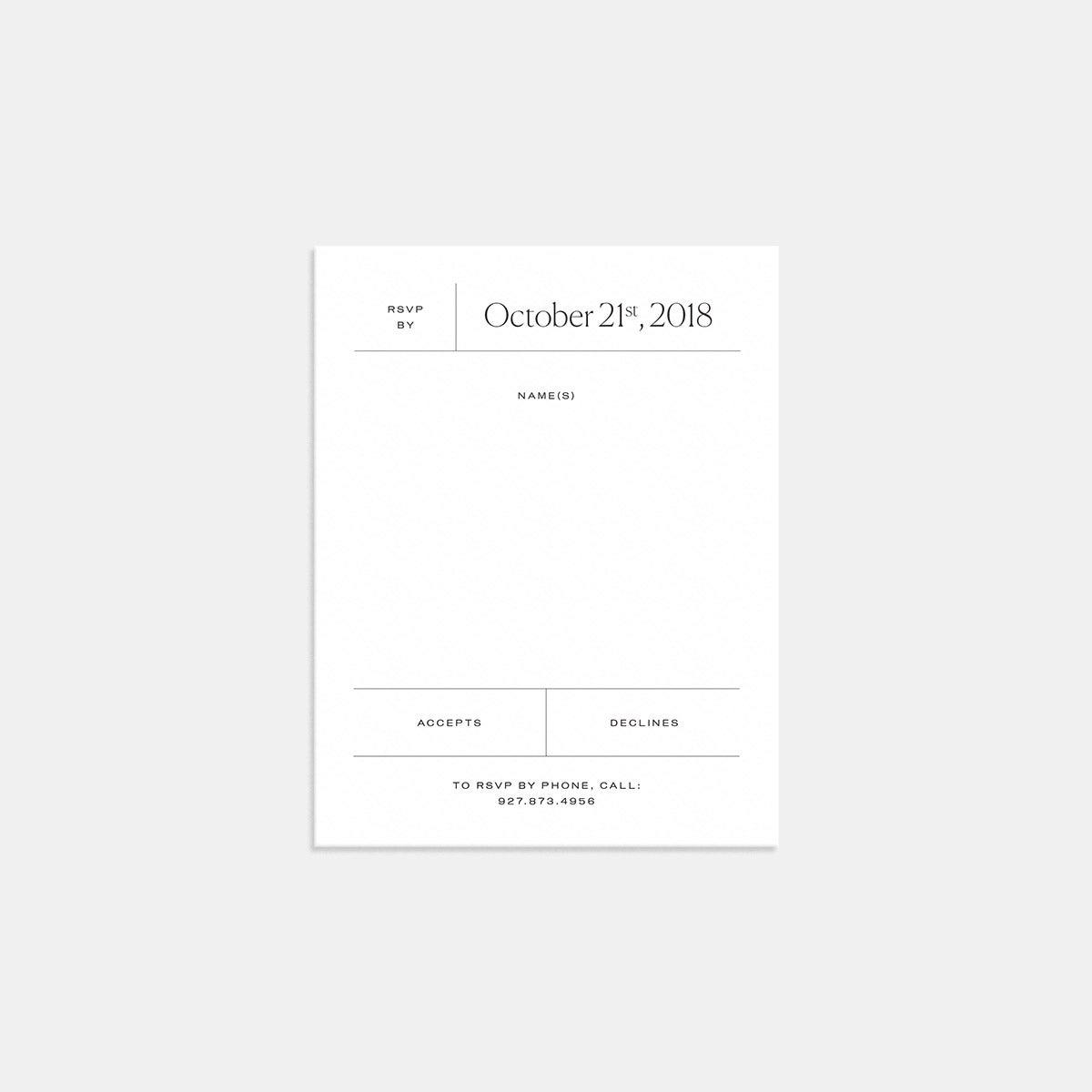 Image for Elemental RSVP Card