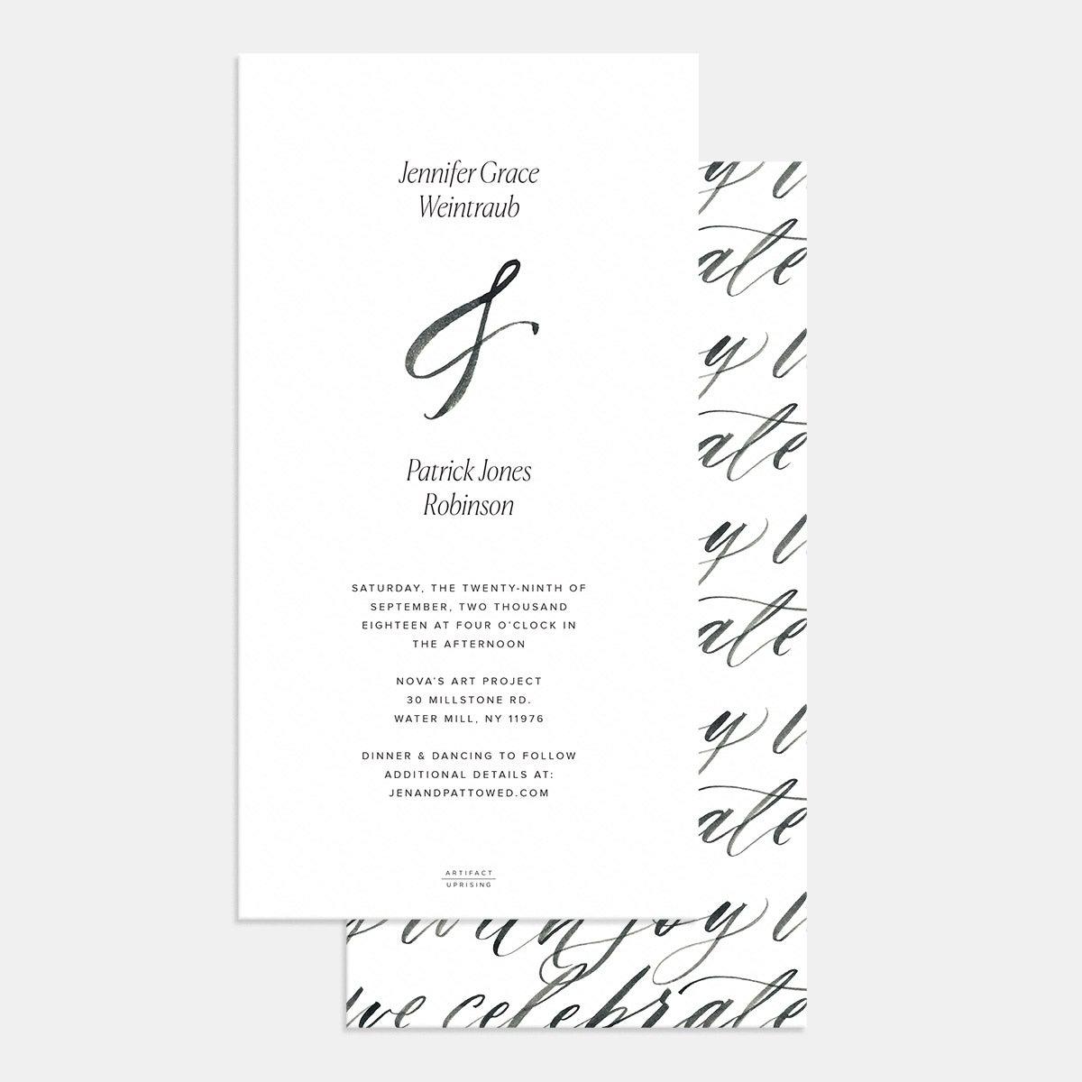 Hand-lettering Wedding Invitation