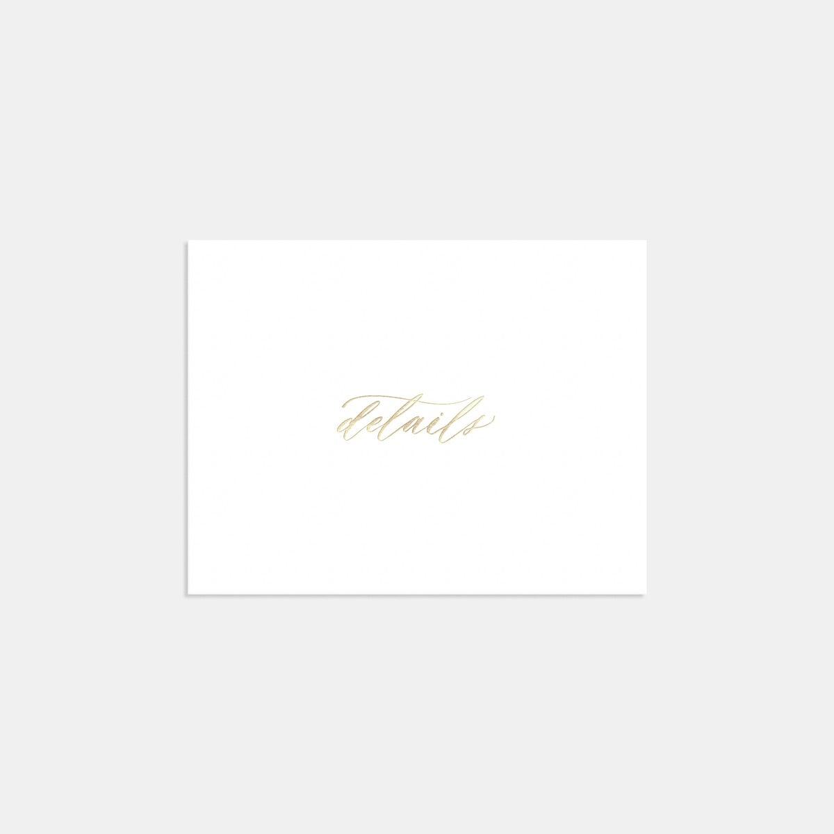 Foil-Stamped Hand-Lettering Enclosure Card